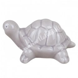 Porcelán teknős, szürke, 8x4 cm
