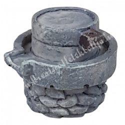 Kőhatású malom, szürke, 3x2,5 cm