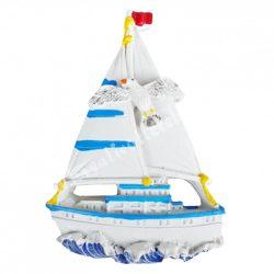 Hűtőmágnes, hajó, 5,5x8 cm