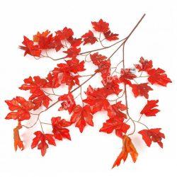 Levél ág, élénk narancs, 53x70 cm