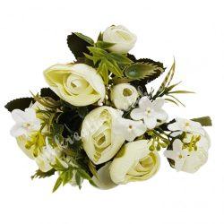 Boglárka virágcsokor, törtfehér, kb. 28 cm