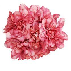 Virágcsokor, korall, kb. 23 cm