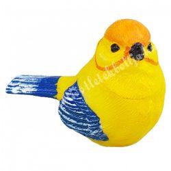 Polyresin madárka, kék-sárga,  6,5x4,5 cm