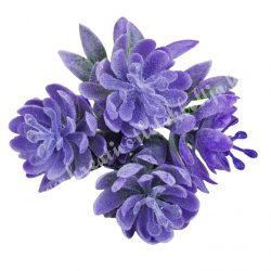 Hamvas virágcsokor, lila, kb. 16 cm