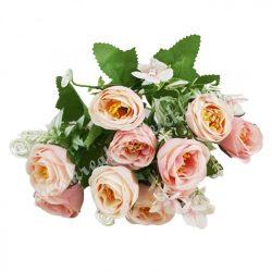 Vegyes virágcsokor, rózsaszín, kb. 29 cm