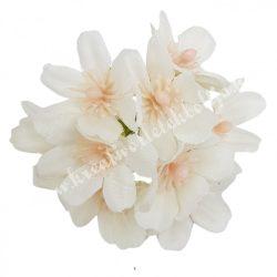Dekor virágfej, fehér, kb. 6 cm