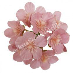 Dekor virágfej, mályva, kb. 6 cm
