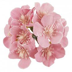 Dekor virágfej, sötétmályva, kb. 6 cm
