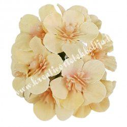 Dekor virágfej, barack, kb. 6 cm
