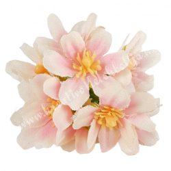 Dekor virágfej, cirmos rózsaszín, kb. 6 cm