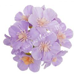 Dekor virágfej, világoslila, kb. 6 cm