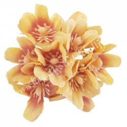 Dekor virágfej, világosbarna, kb. 6 cm