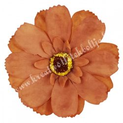 Dekor virágfej, sötétbarna, 7,5 cm