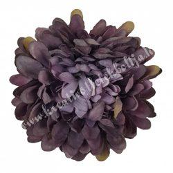 Dekor virágfej, sötétlila, 7 cm