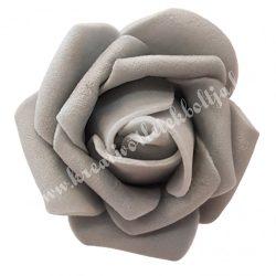 Polifoam rózsa, 3,5x2,5 cm, 22., Szürke
