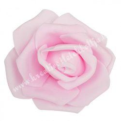 Polifoam rózsa, 6x5 cm, 21., Rózsaszín