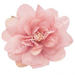 Dekor virágfej, pasztell rózsaszín, 8 cm