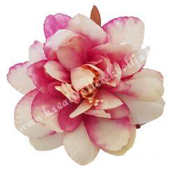 Dekor virágfej, krém-pink, 8 cm