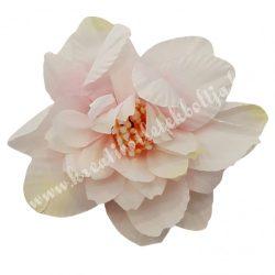 Dekor virágfej, krém-halvány rózsaszín, 8 cm