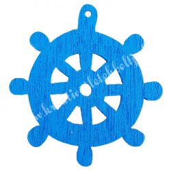 Fadekor, hajókormány, kék, 2,5 cm