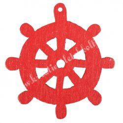 Fadekor, hajókormány, piros, 2,5 cm