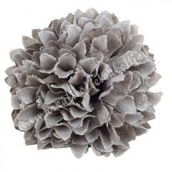 Dekor virágfej, szürke, 4,5 cm