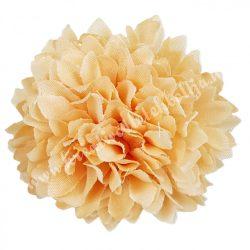 Dekor virágfej, barack, 4,5 cm