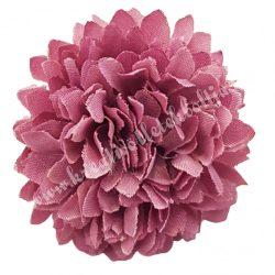 Dekor virágfej, lila, 4,5 cm