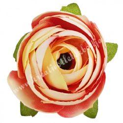 Dekor virágfej, cirmos barack, 3 cm