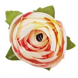 Dekor virágfej, cirmos világos rózsaszín, 3 cm