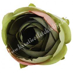 Dekor virágfej, zöld, 3 cm