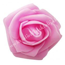Polifoam rózsa, 3,5x2,5 cm, 23., Élénk rózsaszín