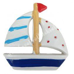 Ragasztható vitorlás hajó, 4,5x5 cm