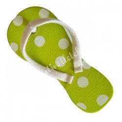 Ragasztható, mini strandpapucs, pöttyös, 2x4,5 cm