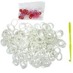 Gumigyűrű, 9x15mm, fehér 300db/csomag