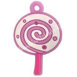 Gumigyűrű dísz, 27x18x2 mm, nyalóka