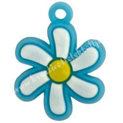 Gumigyűrű dísz, 20x25 mm, virág, 1 darab