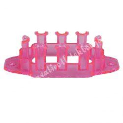 Gumigyűrű tábla, neon pink, 8x2,5 cm