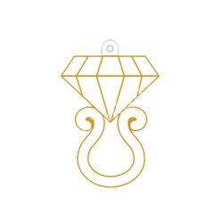 Festhető forma matricafestékhez, gyémántgyűrű