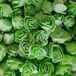 Habrózsa/ polifoam rózsa, almazöld, 3 cm, 50db/csomag