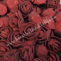 Habrózsa/ polifoam rózsa, burgundi, 3 cm, 50db/csomag