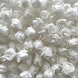 Habrózsa/ polifoam rózsa, fehér, 3 cm, 50db/csomag