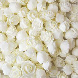 Habrózsa/ polifoam rózsa, krém, 3 cm, 50db/csomag