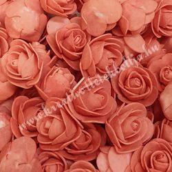 Habrózsa/ polifoam rózsa, lazac, 3 cm, 50db/csomag