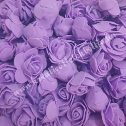 Habrózsa/ polifoam rózsa, lila, 3 cm, 50db/csomag