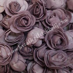 Habrózsa/ polifoam rózsa, vintage lila, 3 cm, 50db/csomag