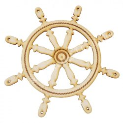 Hajókormány fafigura 20,5 cm