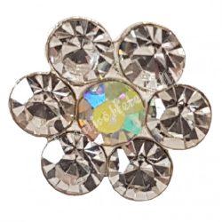 Hajtű, 7 gyöngyös, virág alakú, 1,2x6,7 cm
