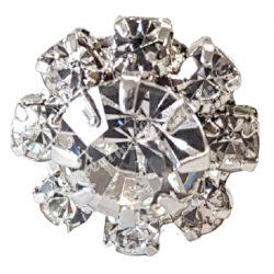 Hajtű, 9 gyöngyös, virág alakú, 1x6,8 cm