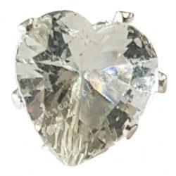 Hajtű, szív alakú gyönggyel, 1x7 cm